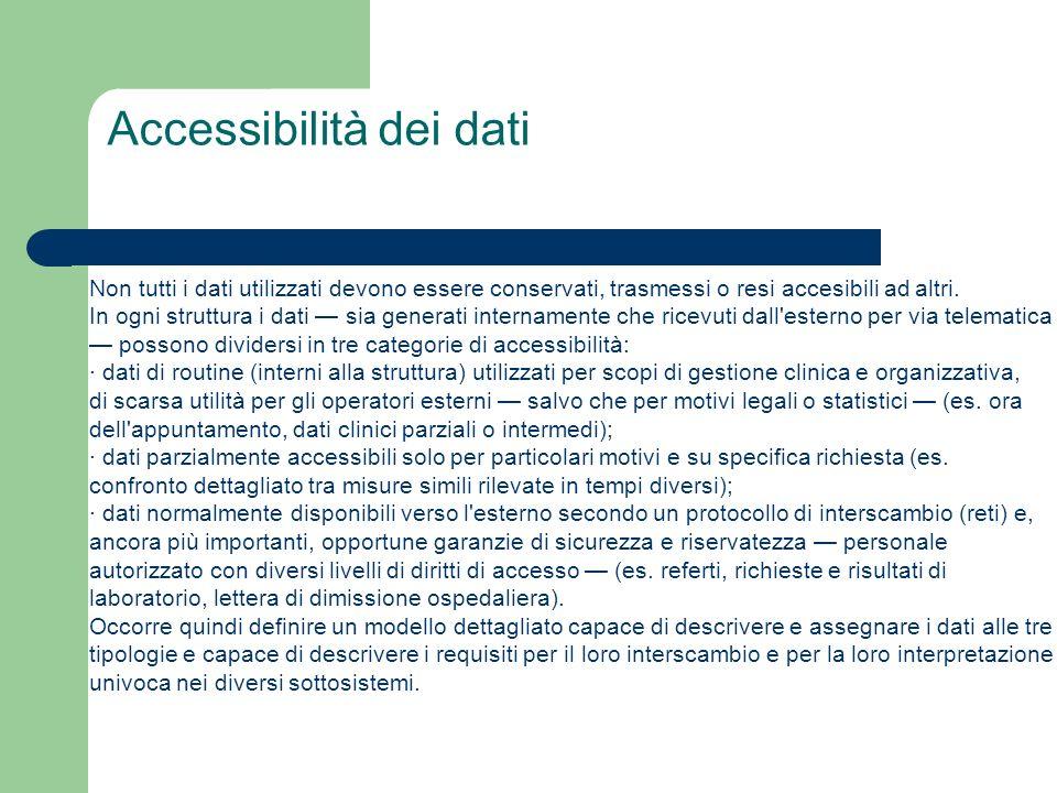 Accessibilità dei dati