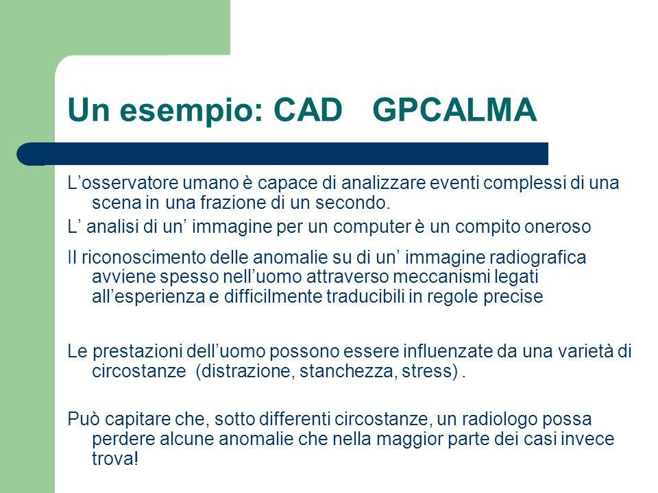 Un esempio: CAD GPCALMA