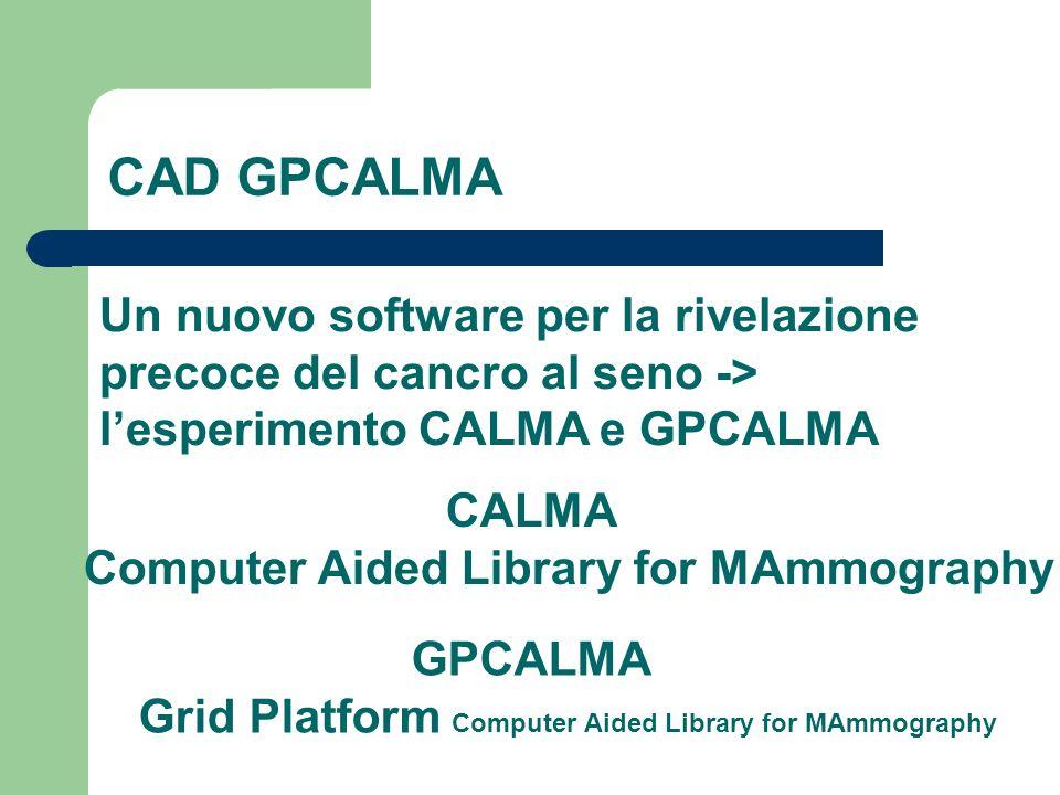 CAD GPCALMA Un nuovo software per la rivelazione precoce del cancro al seno -> l'esperimento CALMA e GPCALMA.