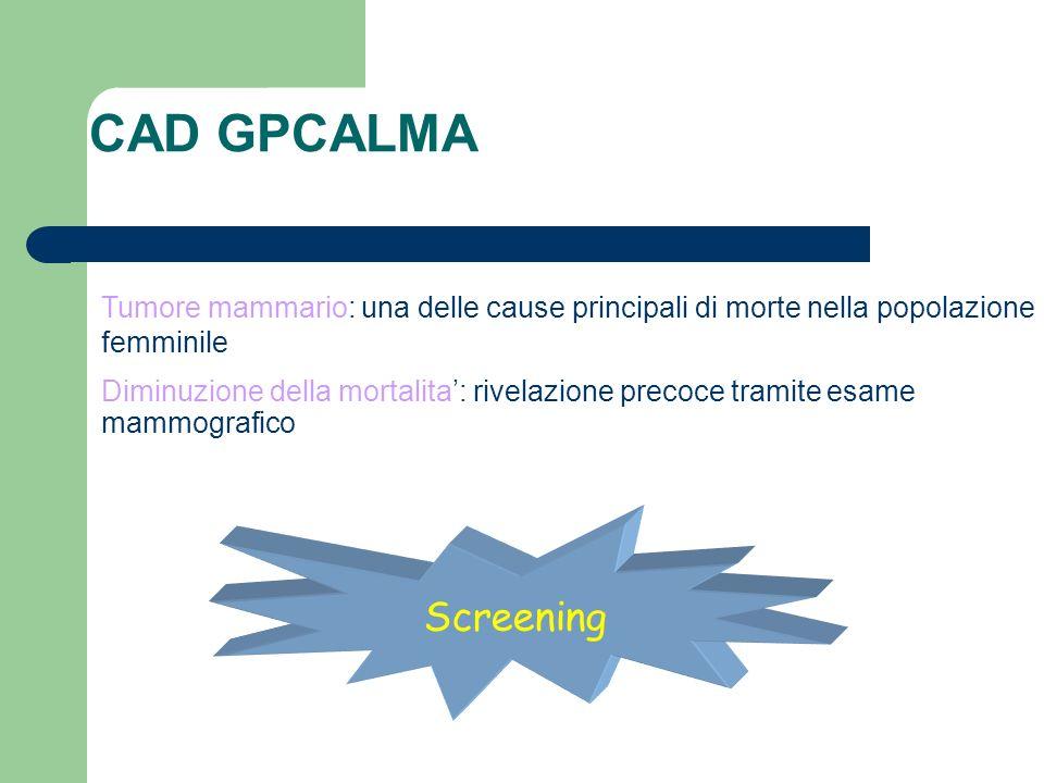 CAD GPCALMA Tumore mammario: una delle cause principali di morte nella popolazione femminile.
