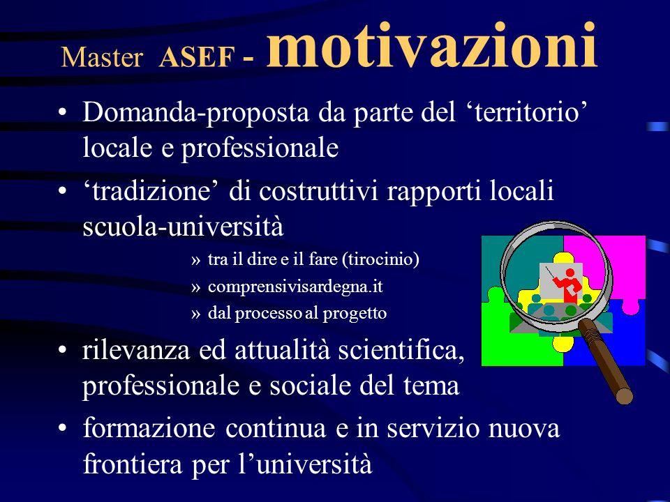 Master ASEF - motivazioni