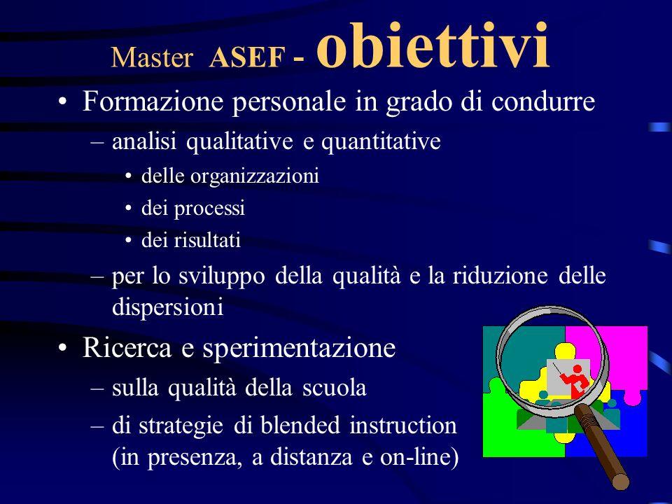 Master ASEF - obiettivi