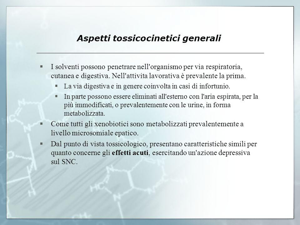 Aspetti tossicocinetici generali