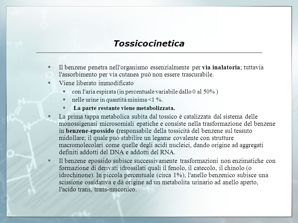 Tossicocinetica