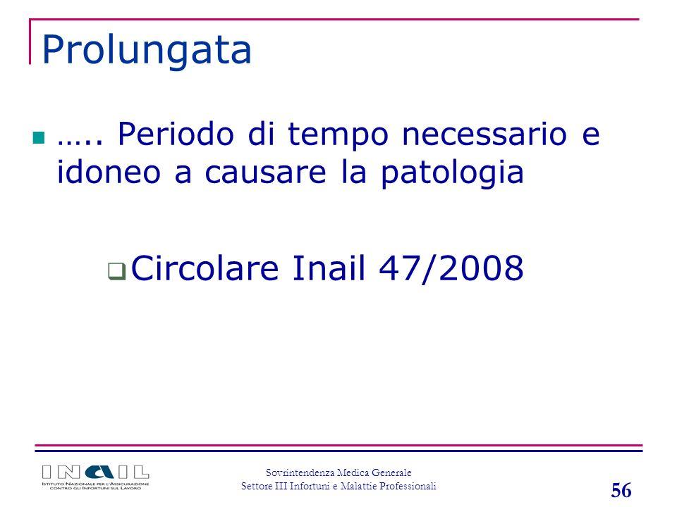 Prolungata Circolare Inail 47/2008