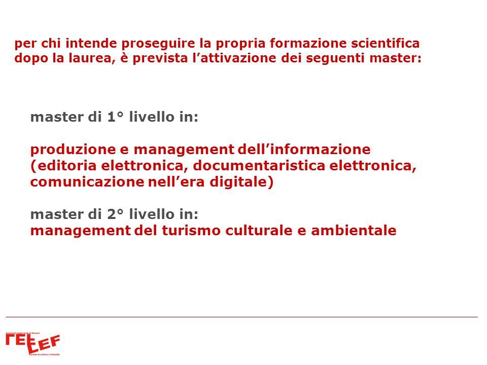 produzione e management dell'informazione