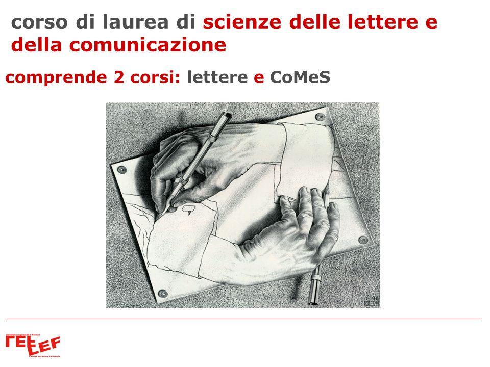 corso di laurea di scienze delle lettere e della comunicazione