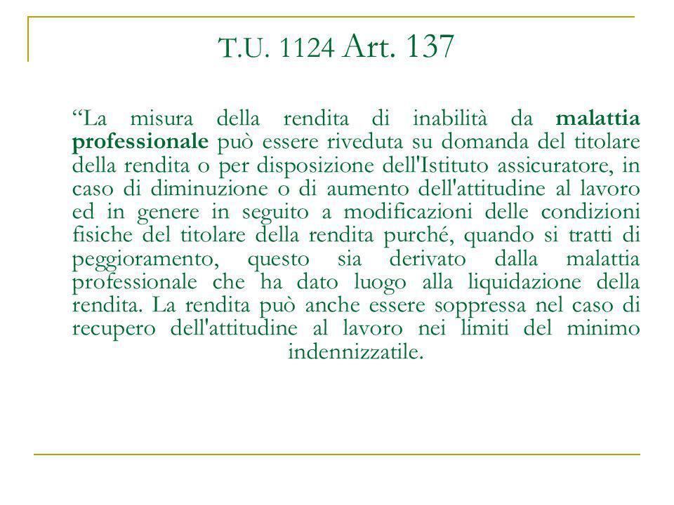 T.U. 1124 Art. 137