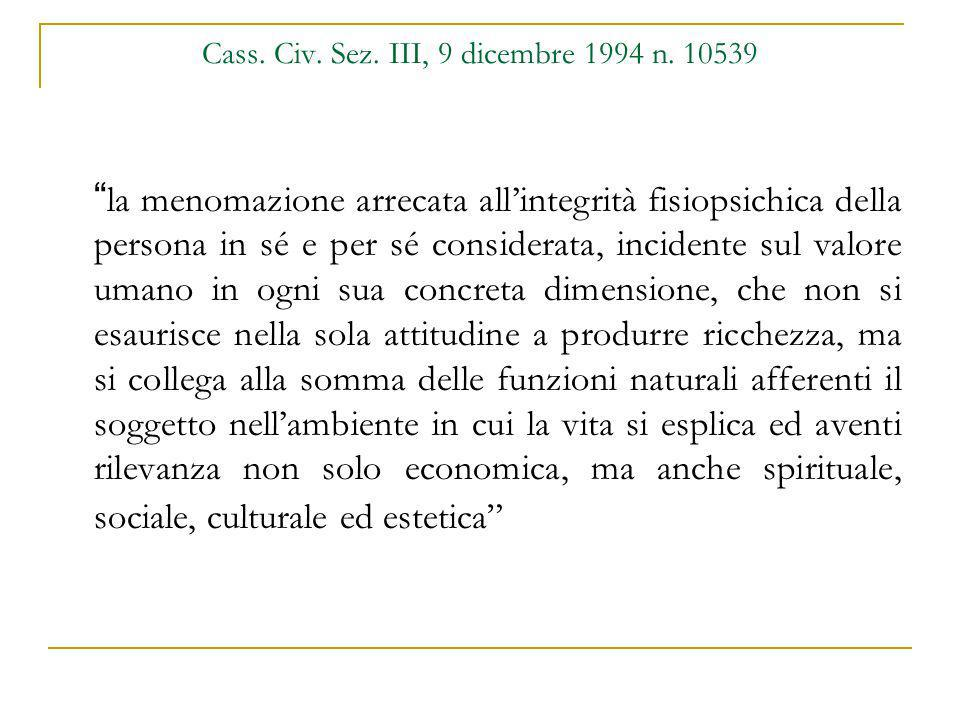 Cass. Civ. Sez. III, 9 dicembre 1994 n. 10539