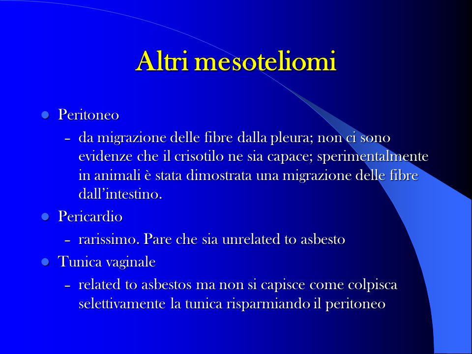 Altri mesoteliomi Peritoneo