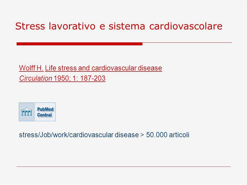Stress lavorativo e sistema cardiovascolare