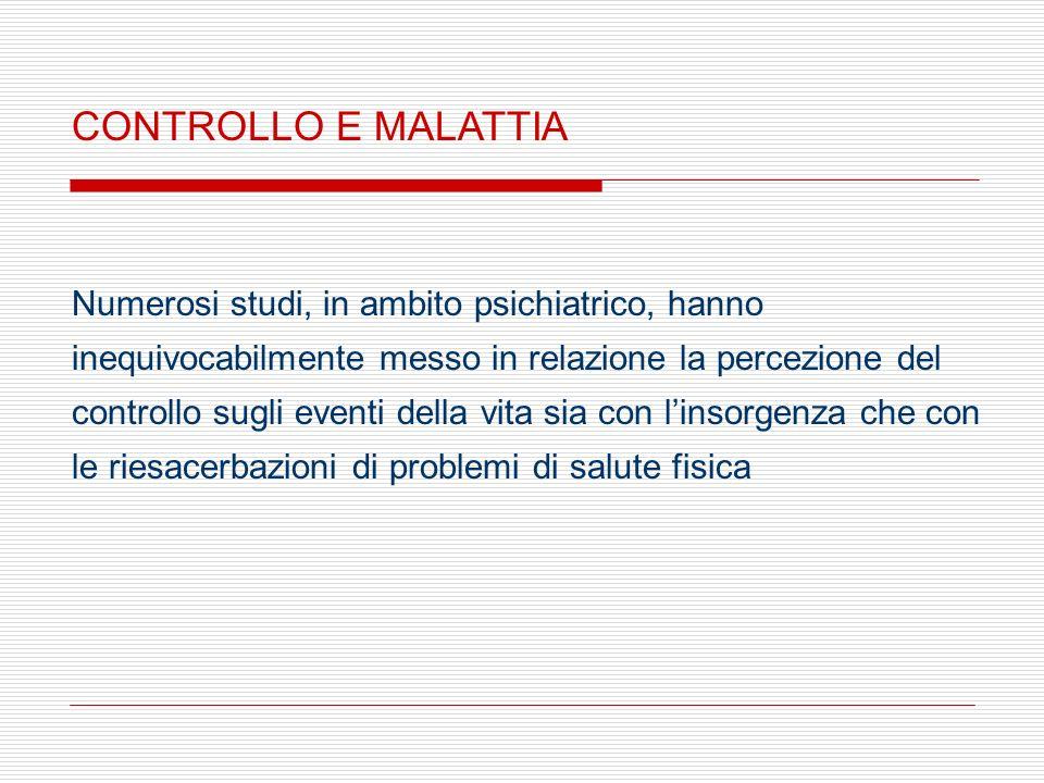 CONTROLLO E MALATTIA