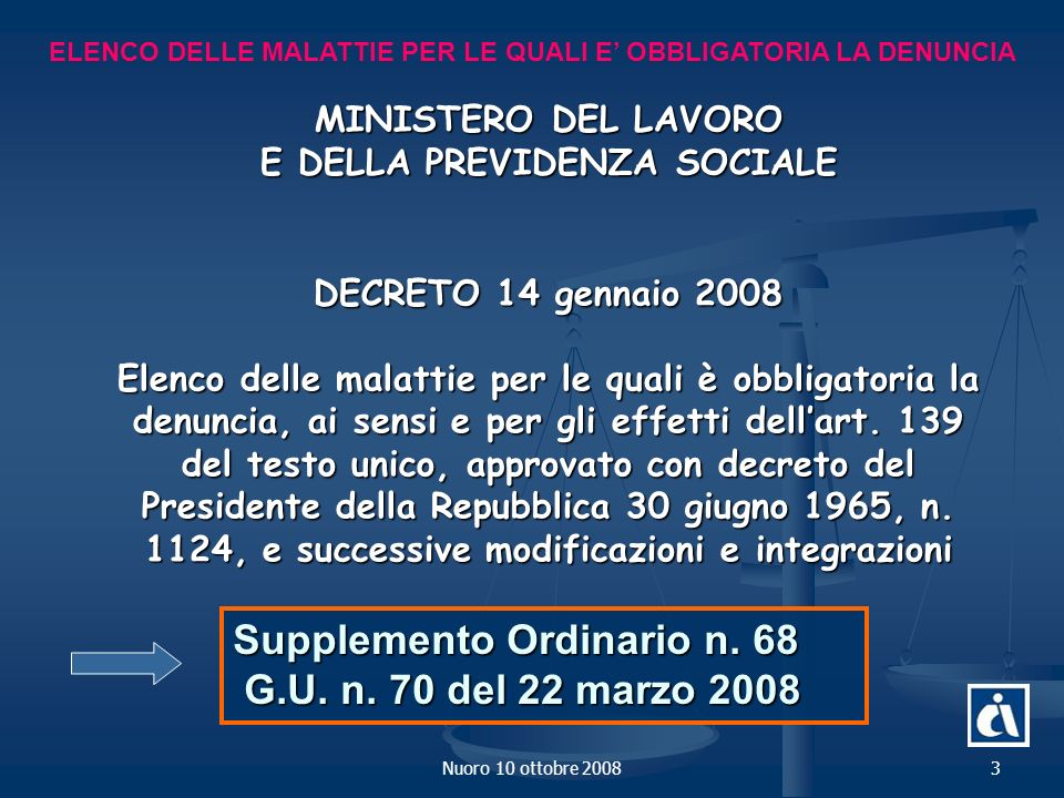 Supplemento Ordinario n. 68 G.U. n. 70 del 22 marzo 2008