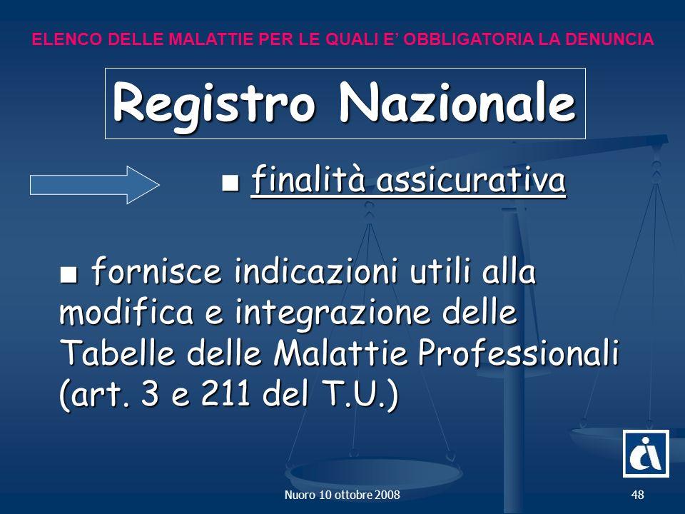Registro Nazionale ■ finalità assicurativa
