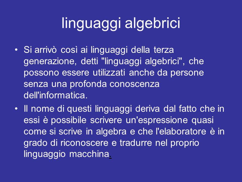 linguaggi algebrici
