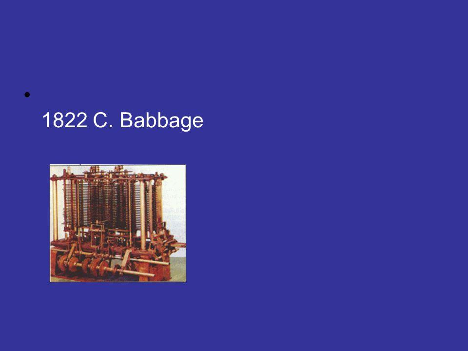 1822 C. Babbage