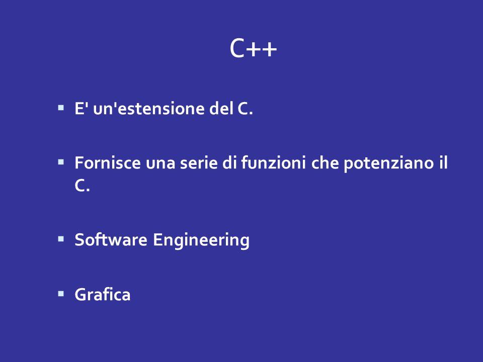 C++ E un estensione del C.