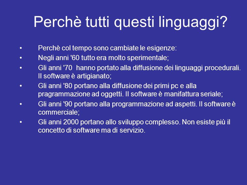 Perchè tutti questi linguaggi