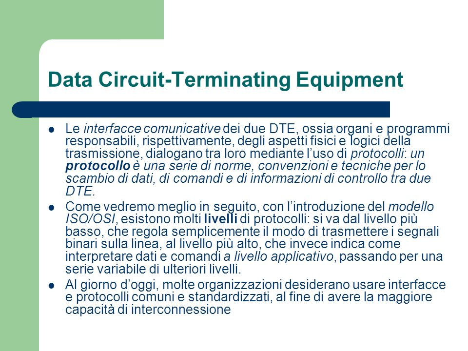 Data Circuit-Terminating Equipment
