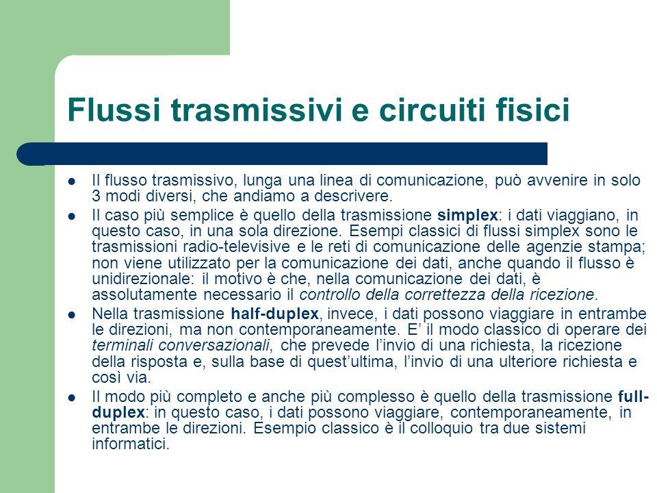 Flussi trasmissivi e circuiti fisici