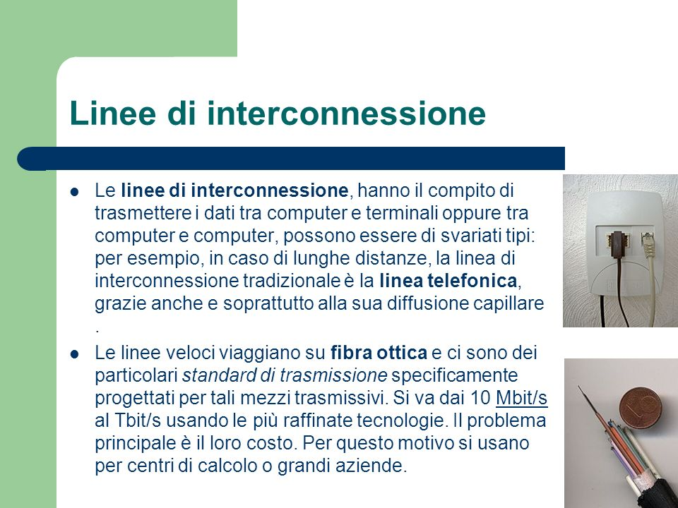 Linee di interconnessione