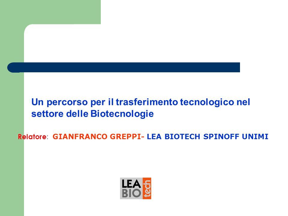 Un percorso per il trasferimento tecnologico nel settore delle Biotecnologie