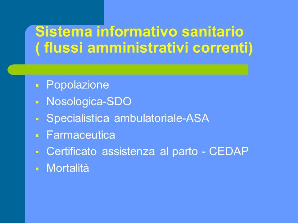 Sistema informativo sanitario ( flussi amministrativi correnti)