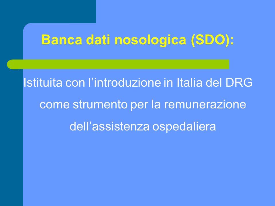 Banca dati nosologica (SDO):
