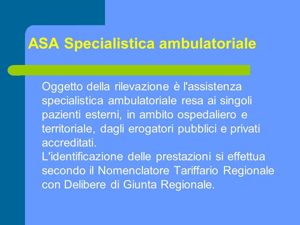 ASA Specialistica ambulatoriale