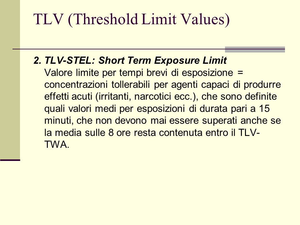 TLV (Threshold Limit Values)