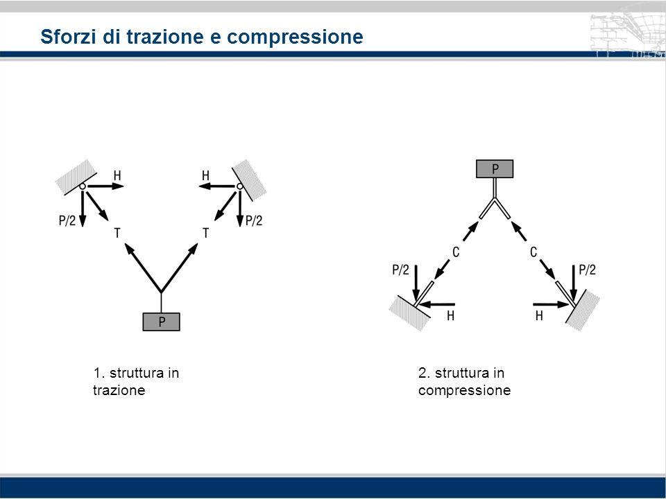 Sforzi di trazione e compressione