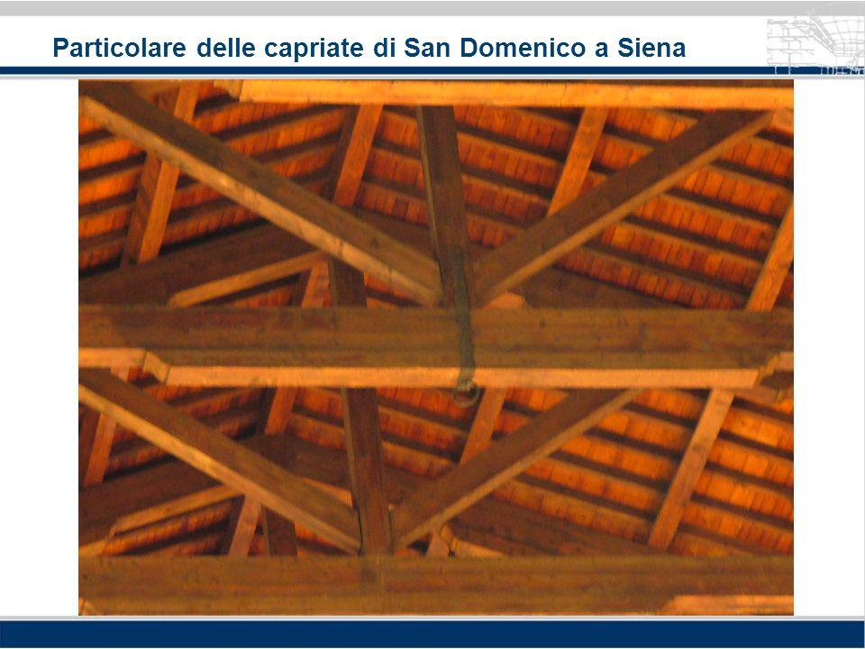 Particolare delle capriate di San Domenico a Siena
