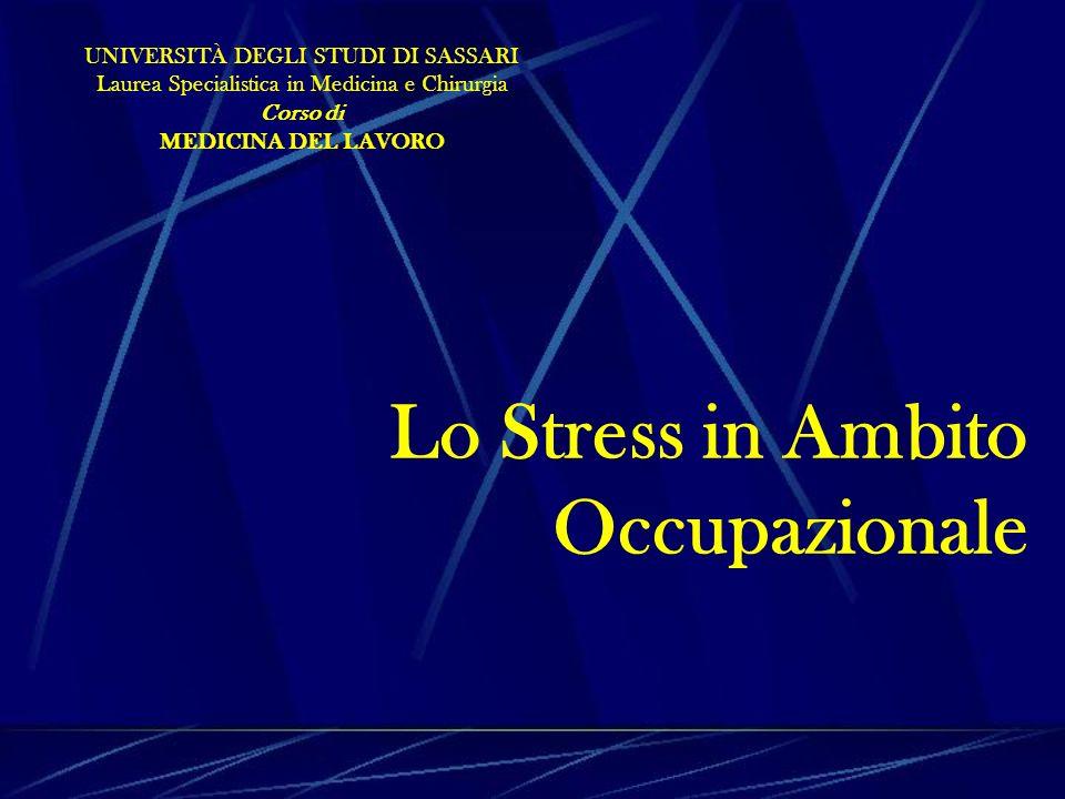 Lo Stress in Ambito Occupazionale