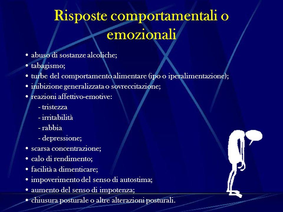 Risposte comportamentali o emozionali