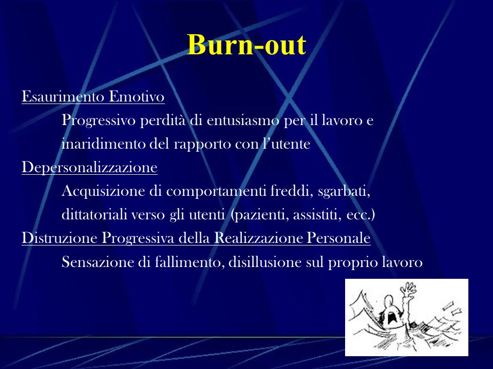 Burn-out Esaurimento Emotivo