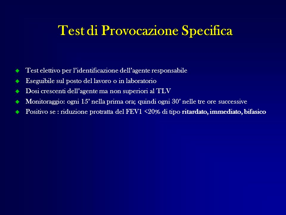 Test di Provocazione Specifica