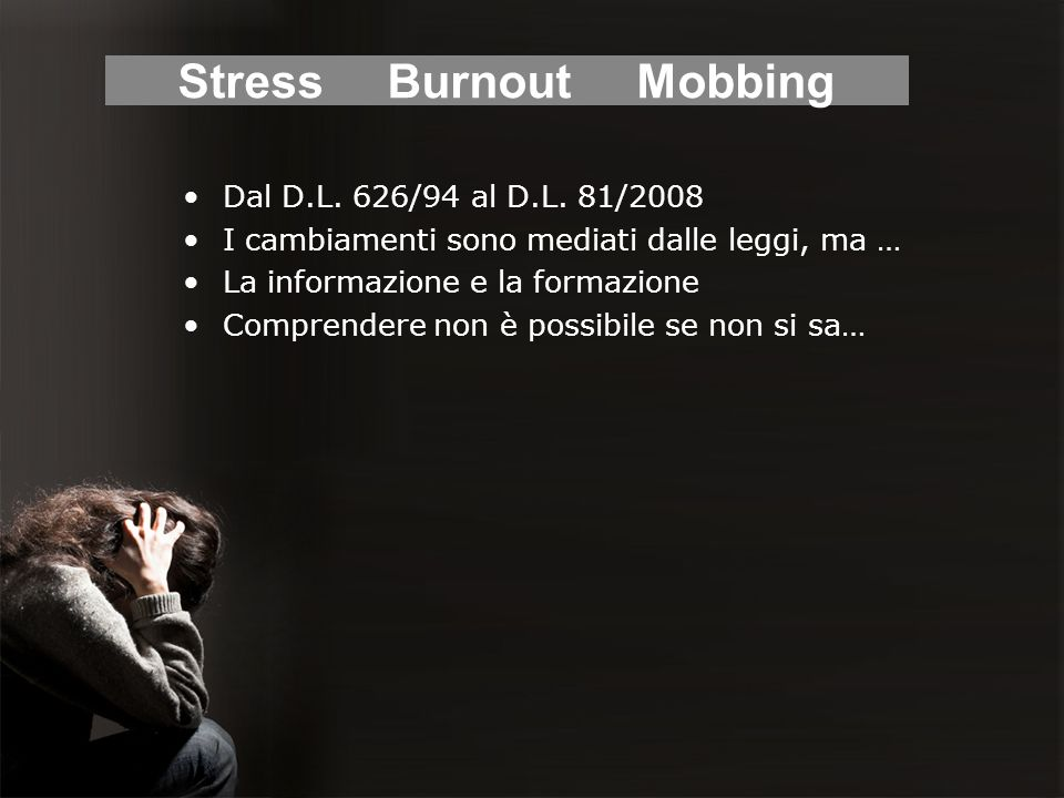 Stress Burnout Mobbing