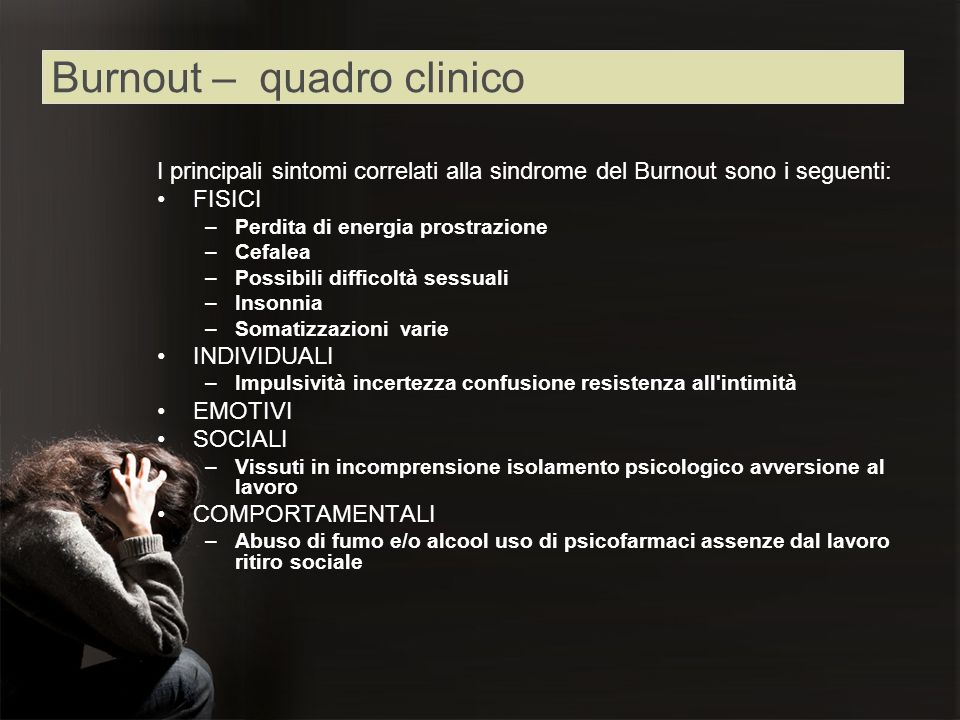 Burnout – quadro clinico