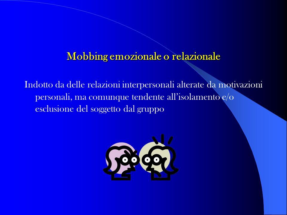 Mobbing emozionale o relazionale