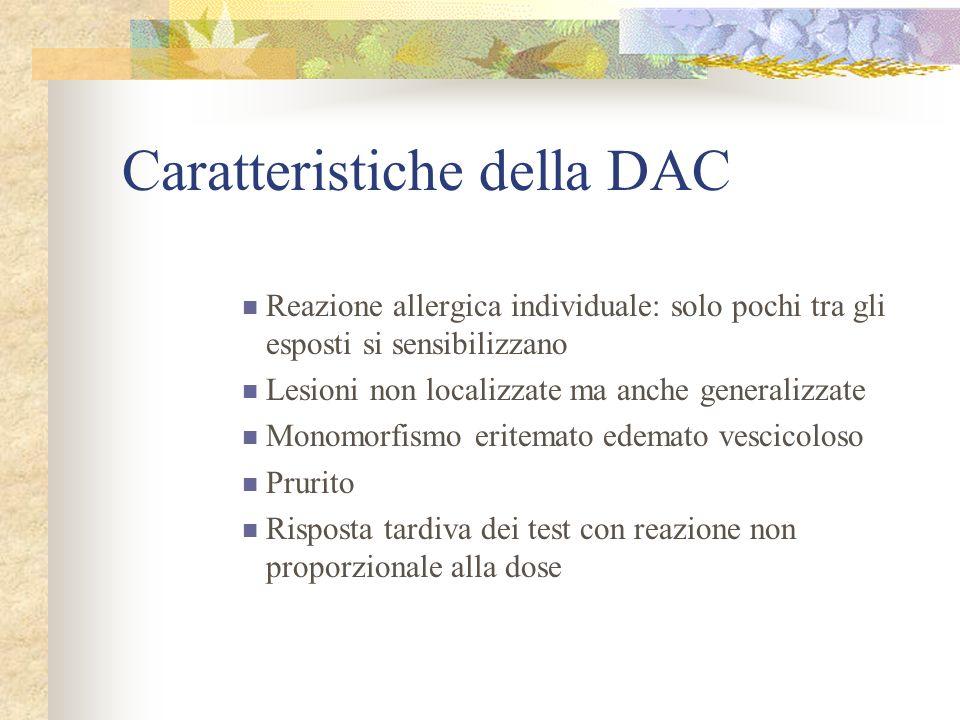 Caratteristiche della DAC