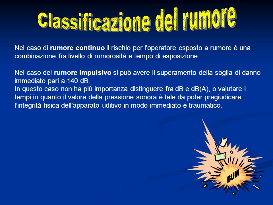 Classificazione del rumore