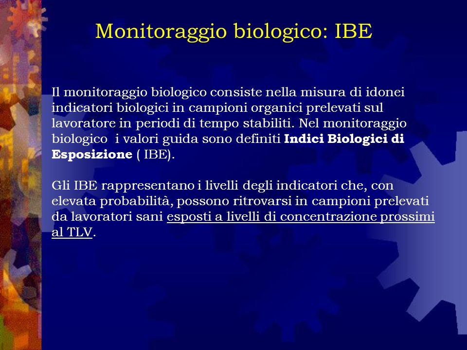 Monitoraggio biologico: IBE