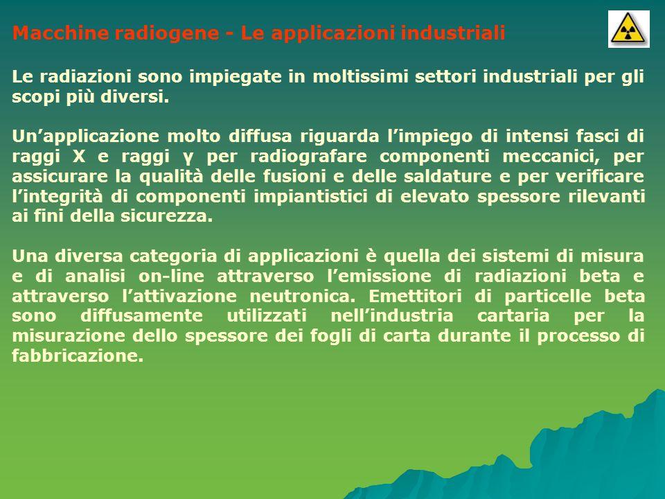 Macchine radiogene - Le applicazioni industriali