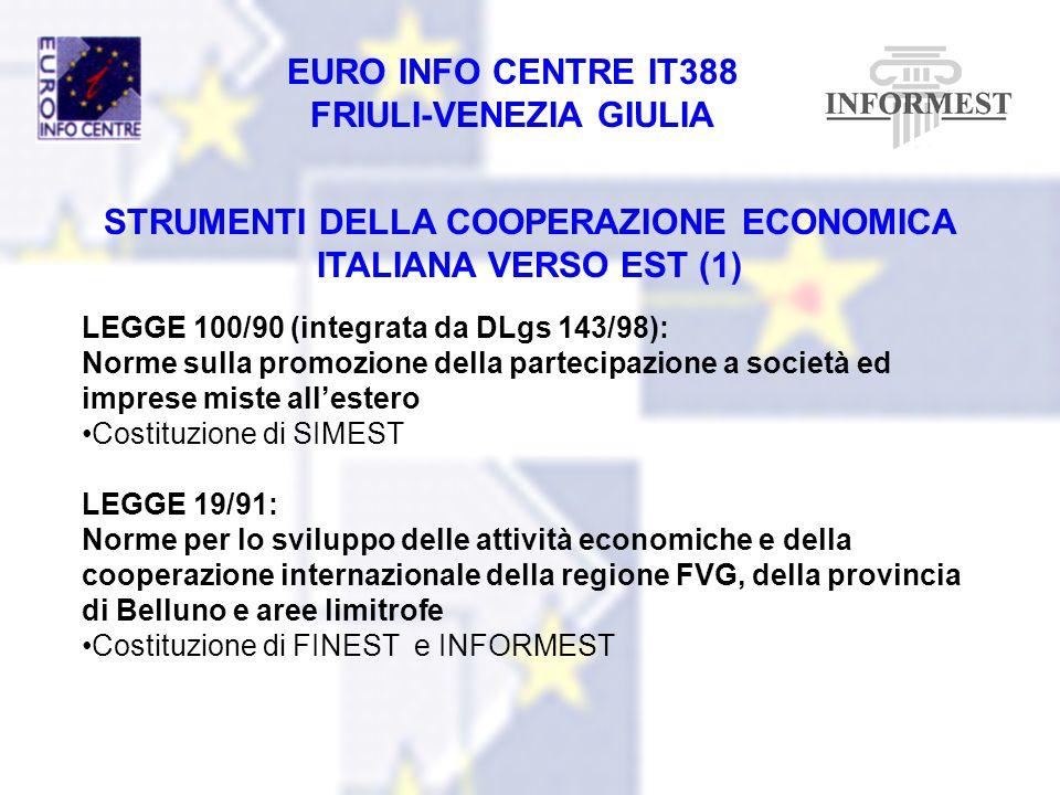 STRUMENTI DELLA COOPERAZIONE ECONOMICA ITALIANA VERSO EST (1)