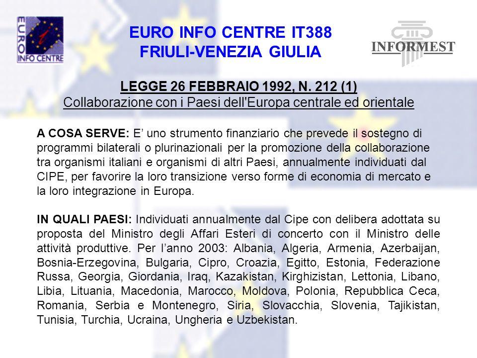 Collaborazione con i Paesi dell Europa centrale ed orientale