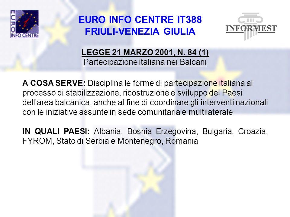 Partecipazione italiana nei Balcani