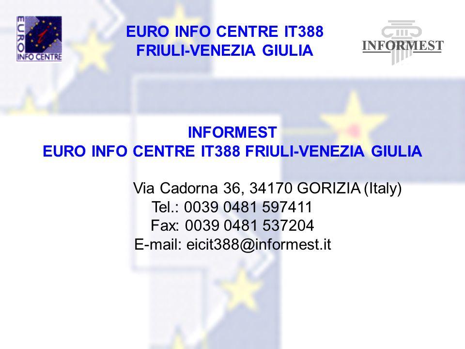 EURO INFO CENTRE IT388 FRIULI-VENEZIA GIULIA