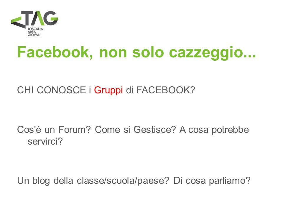 Facebook, non solo cazzeggio...