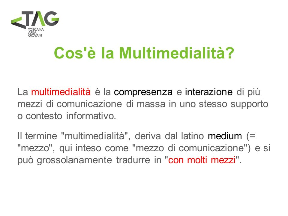Cos è la Multimedialità