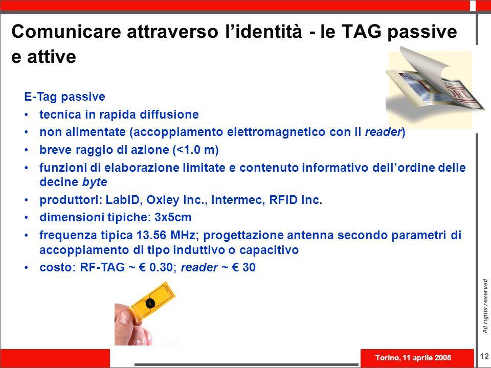 Comunicare attraverso l'identità - le TAG passive e attive